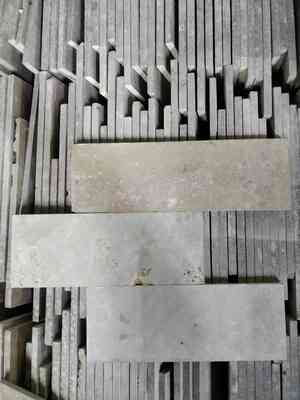 4 x 12 Rectangle Matte Beige Natural Stone
